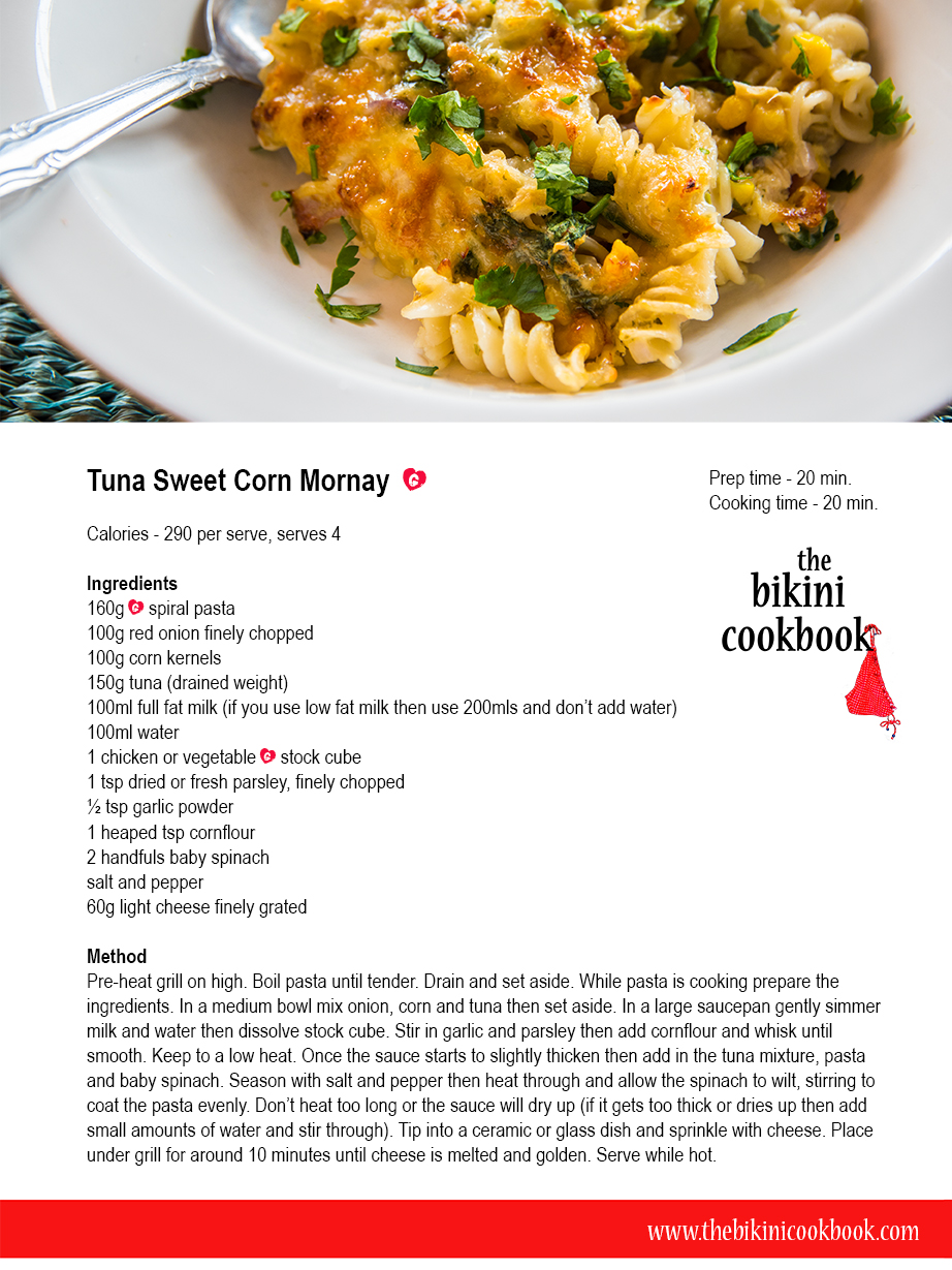 Tuna and Sweet Corn Mornay
